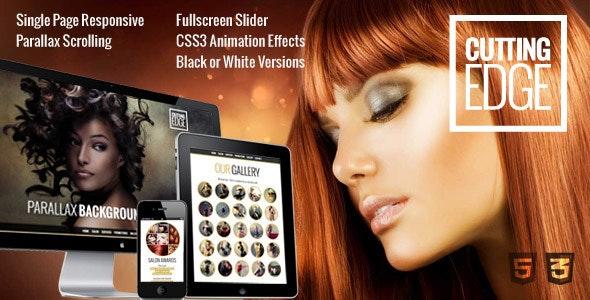 Cutting Edge Responsive Parallax WordPress Theme - Health & Beauty Retail