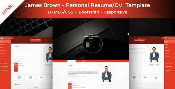 James Brown - Personal Resume & Portfolio Template - Portfolio Creative