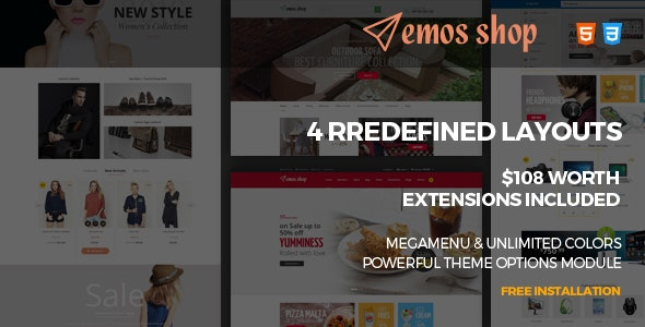Emos - Multi Store Responsive Magento Theme - Shopping Magento