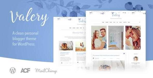Valery CD - Personal Blog Theme for WordPress - Personal Blog / Magazine