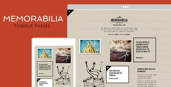 Download Memorabilia Tumblr Theme