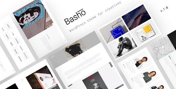 Basho - A Creative WordPress Theme for Freelancers & Agencies - Portfolio Creative