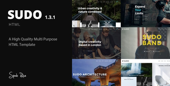 Sudo - High Quality Multipurpose HTML template - Creative Site Templates
