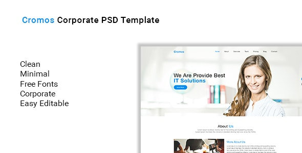 Cromos Corporate PSD Template - Photoshop UI Templates