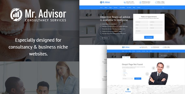 Mr Advisor - Consulting, Business, Finance And Accounting Template - Business Corporate