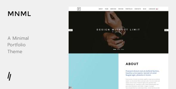 MNML - Portfolio WordPress Theme - Portfolio Creative