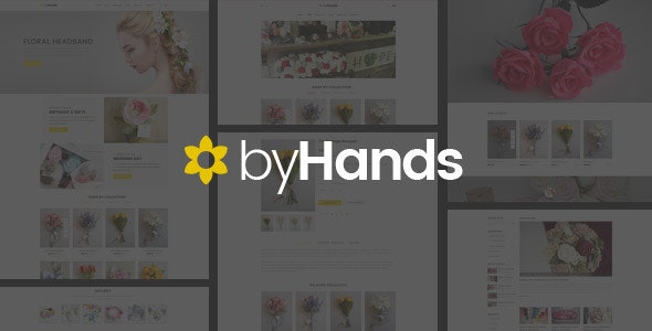 ByHands - Flower Store HTML Template - Retail Site Templates