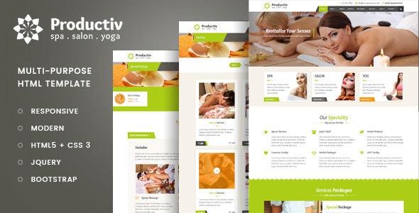 Productiv Multipurpose Responsive HTML Template - Business Corporate