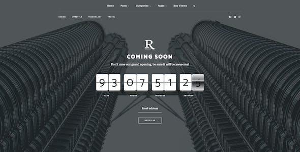 Regular - Bold Content Blog & Online Magazine Website Template