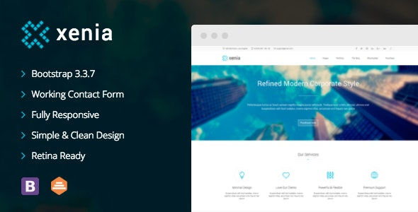Xenia - Refined HTML 5 / CSS 3 Corporate Template - Business Corporate