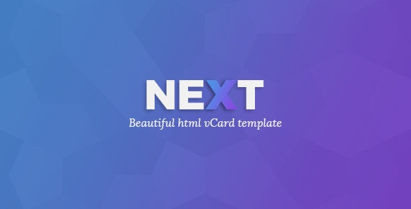 NEXt - Personal CV/Vcard Template - Personal Site Templates