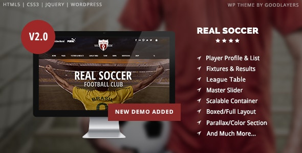 Real Soccer - Sport Clubs WordPress - Health & Beauty Retail