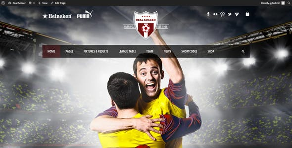 Real Soccer - Sport Clubs WordPress