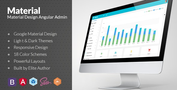 Material Design Angular Admin Web App with Bootstrap 4 by
