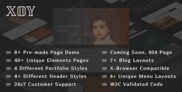 XOY - Multipurpose HTML5 Template - Creative Site Templates