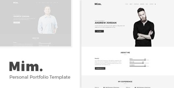 Mim - Personal Portfolio Template - Portfolio Creative