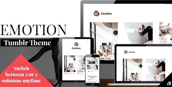 Download Emotion - Clean Tumblr Theme