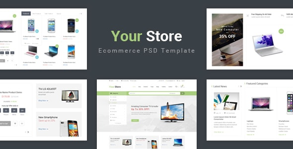 Your Store - Ecommerce PSD Template - Retail Photoshop