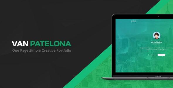 Vanpatelona - One Page Simple Creative Portfolio - Photoshop UI Templates