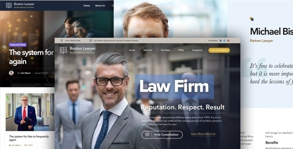Lawyer - Law firm and Legal Attorney WordPress Theme by
