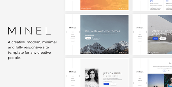 Minel - Responsive Minimal Site Template - Under Construction Specialty Pages