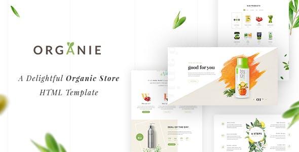 Organie HTML - An Organic Store, Farm, Cake and Flower Shop Template
