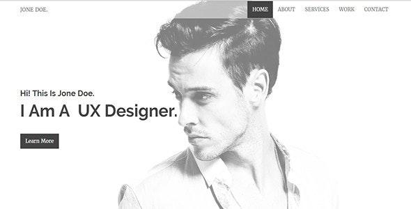 Synchro-Personal Portfolio Template - Personal Site Templates