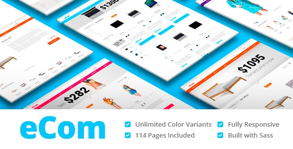 eCom - Material Design Multipurpose eCommerce HTML Template - Shopping Retail