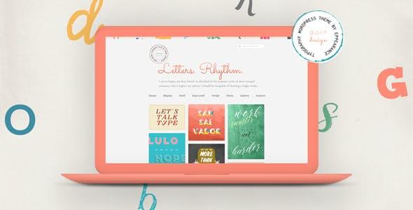 Letters Rhythm. WordPress Blog Theme