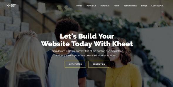 Kheet - One Page MultiPurpose Template - Portfolio Creative
