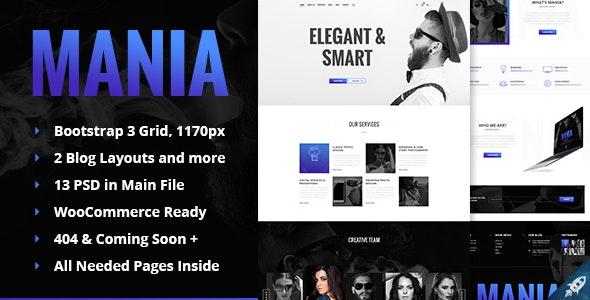 Mania - Digital & Photo Agency HTML Template - Creative Site Templates
