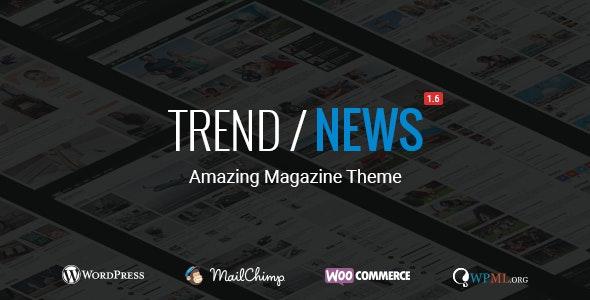 Trend / News - Responsive Magazine Theme - News / Editorial Blog / Magazine
