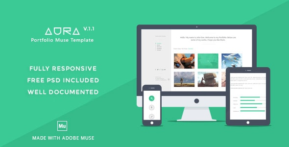 Aura - Portfolio Muse Template - Personal Muse Templates