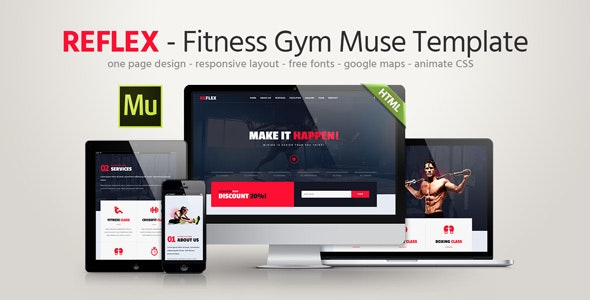 Reflex - Fitness Gym Muse Template - Landing Muse Templates