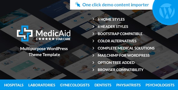 MedicAid - Dentist & Medical- Multipurpose WordPress theme RTL - Business Corporate