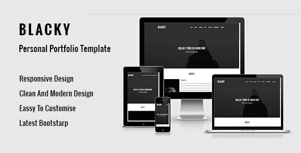 BLACKY -  Personal Portfolio Template - Portfolio Creative