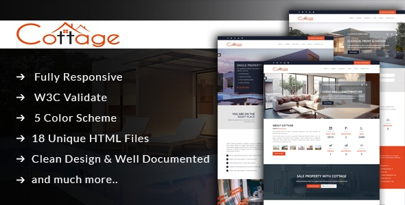 Cottage - Real Estate Single Property Template - Business Corporate