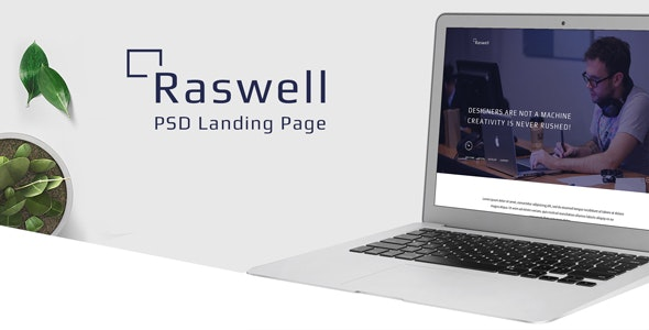 Raswell- One Page Creative PSD Template - Creative Photoshop
