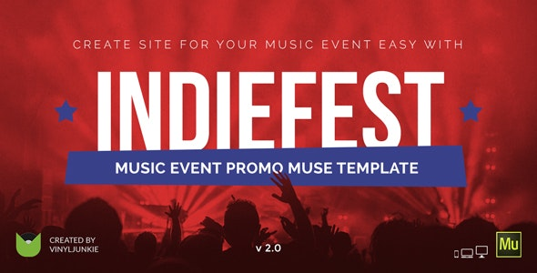 IndieFest - Music Event / Party / Festival Promo Muse Template - Miscellaneous Muse Templates