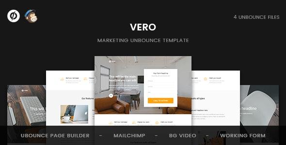 Vero - Marketing Unbounce Template - Unbounce Landing Pages Marketing