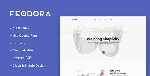 Feodora - Minimal PSD Template