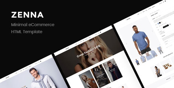 Zenna   Minimal E-commerce HTML Template - Retail Site Templates