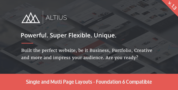 Altius | Multi-purpose HTML5 Template - Creative Site Templates