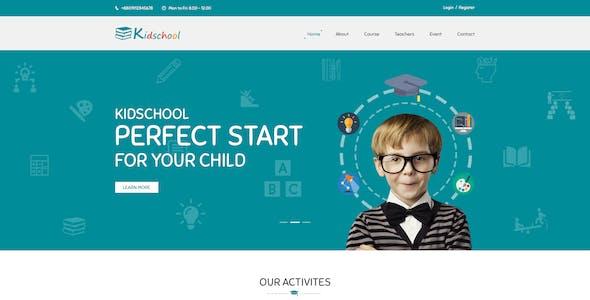 Kidschool - Kindergarten School PSD Template