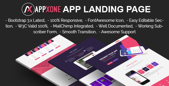 APPXONE - App Landing Template