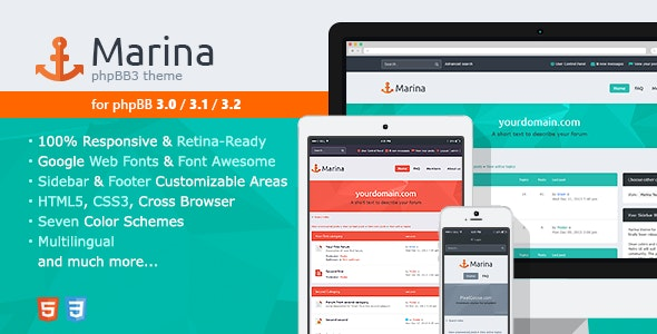 Marina — Responsive & Retina Ready phpBB3 Theme - PhpBB Forums