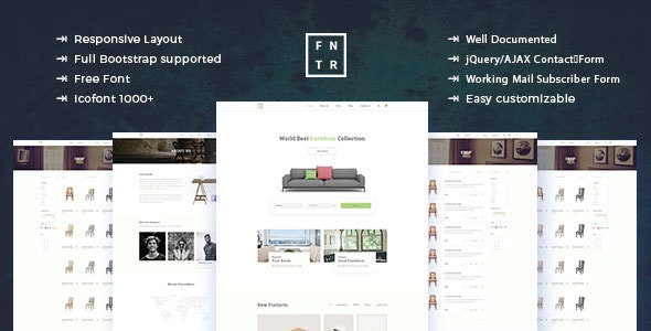 Furniture - ecommerce Product Template - Retail Site Templates