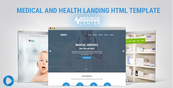 MediKos Center - Medical and Health HTML Landing Template - Health & Beauty Retail