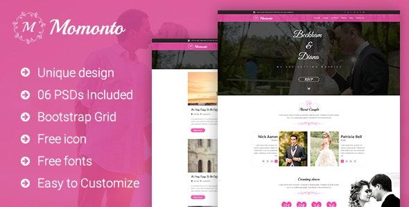 Momonto - Wedding PSD Template - Miscellaneous Photoshop
