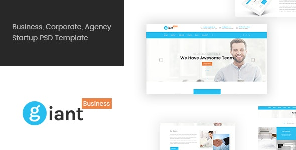Giant Business - Business PSD Template - Business Corporate